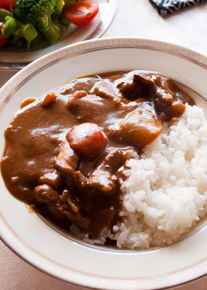 Katsu Curry Japanese Curry With Chicken Cutlet Recipetin Japan Recipe In 2020 Japanese Curry Bhg Recipes Chicken Cutlets