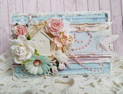 ღ My Scrap Story: Открытка в розово-голубой палитре