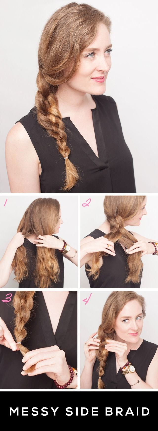 MESSY SIDE BRAID TUTORIAL - how to get this gorgeous braided hairstyle.