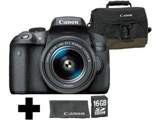 Canon EOS 750D + EF-S 18-55 IS STM für 499€ - Spiegelreflexkamera mit Objektiv, Tasche und 16GB Speicherkarte