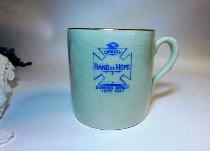 "Temperance Mug ""Band of Hope"" Mug, Diamond Jubilee Mug, 1930s Mug, Pheonix Ware Mug, British Temperance Movement, by MindieshackVintage on Etsy"