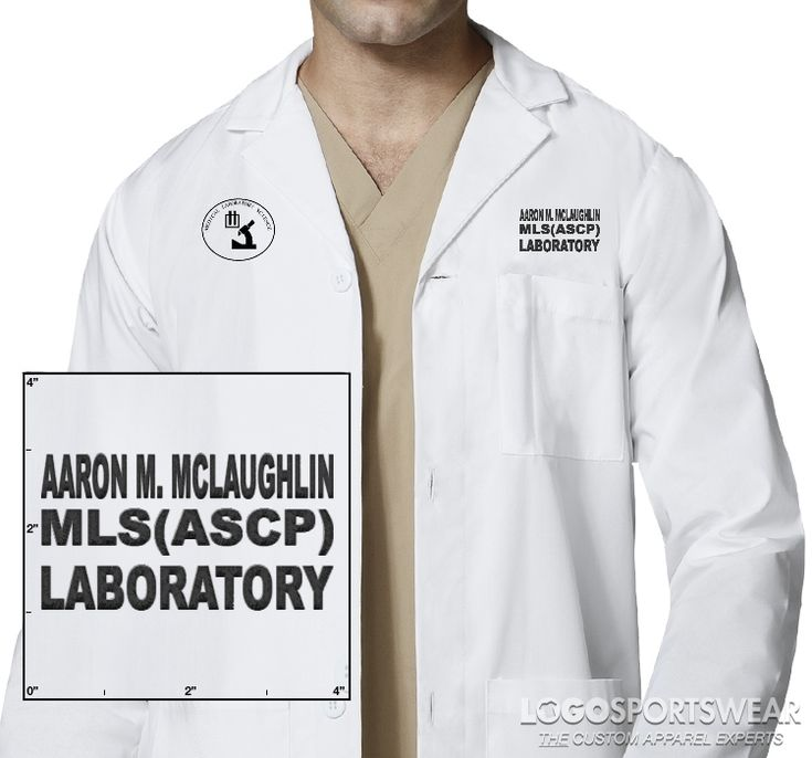 Medical Laboratory Scientist Lab Coat _ LogoSportswear Online Designer - Embroidery