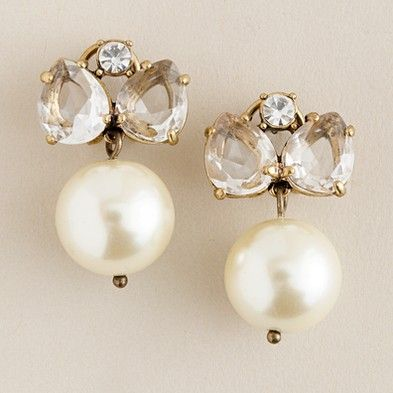 Pearl Jewel Box Earrings- J. Crew