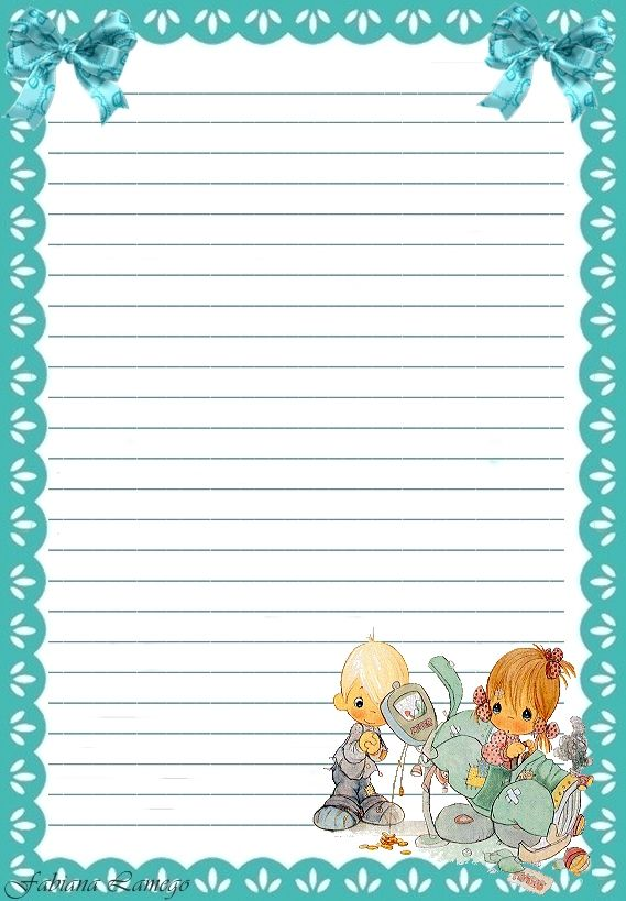 1578 best folhas decoradas images on Pinterest Writing paper - lined letter writing paper