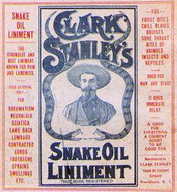 snake oil liniment label