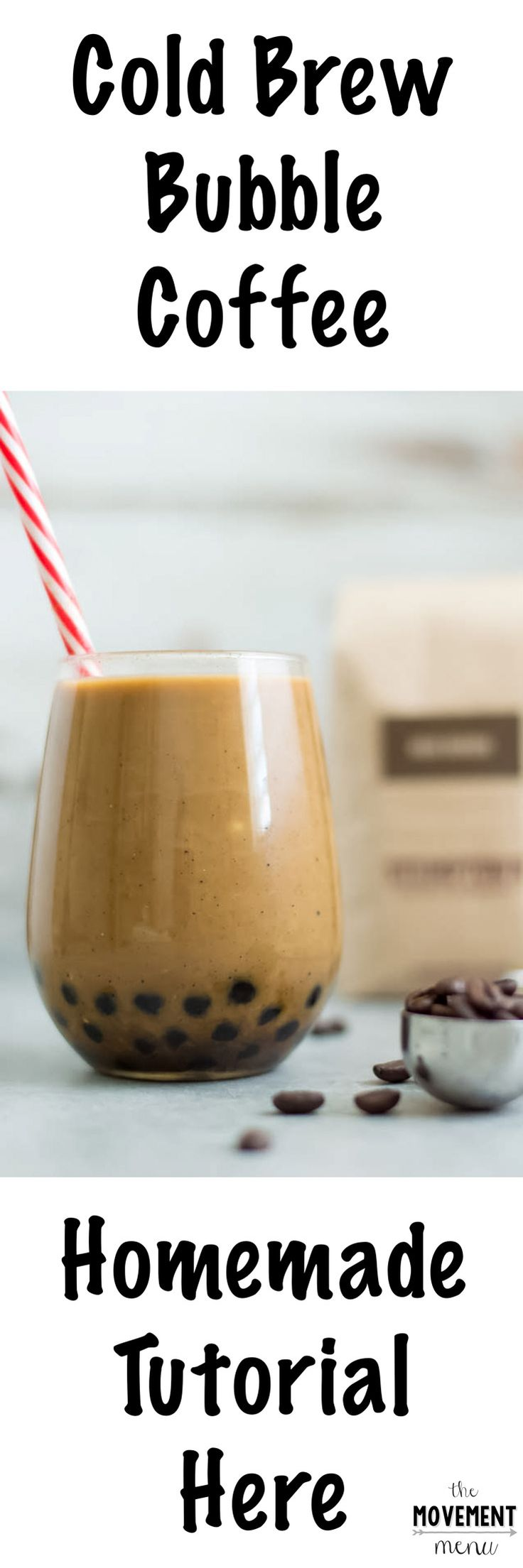 A homemade boba and cold brew recipe, without the junky simple syrup at cafes. The boba is soaked in a coconut sugar syrup!