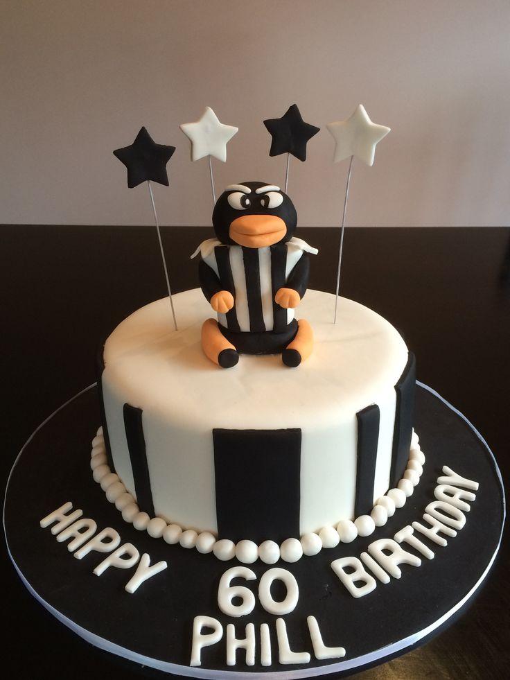 Collingwood football club birthday cake!  Go Magpies!