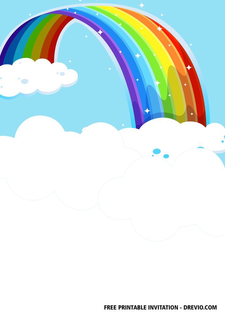 FREE Rainbow Party Invitation Templates | Rainbow party ...