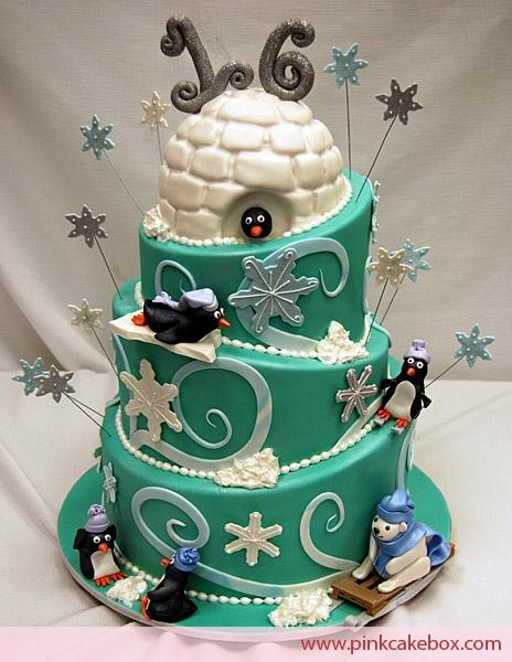 Winter Wonderland Sweet 16 cake: Winter Cakes, Sweet 16, Cakes Ideas, Penguins Cakes, Pink Cakes, Amazing Cakes, Cakes Boxes, Theme Cakes, Birthday Cakes