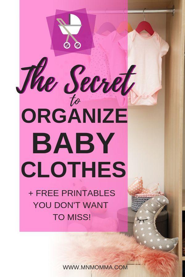 Comment organiser les vêtements de bébé (même ceux qui deviennent trop grands!)