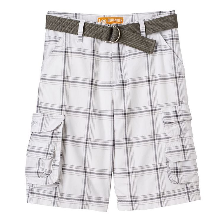 Boys 8-20 Lee Dungarees Wyoming Belted Shorts, Boy's, Size: 18, Ovrfl Oth