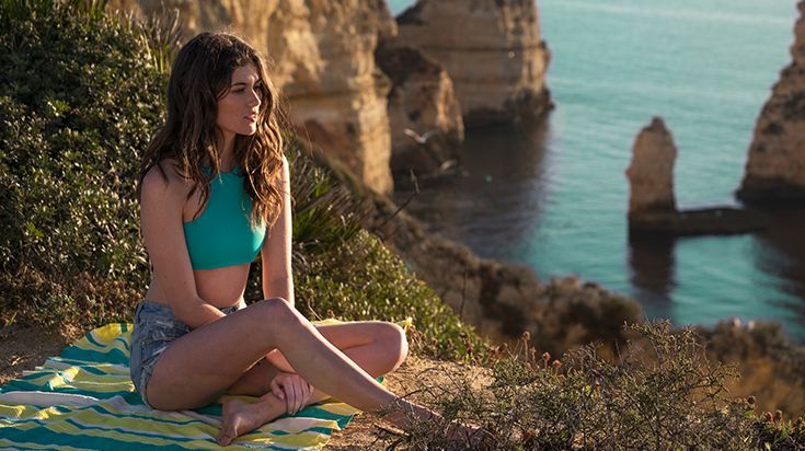 FUTAH BEACH TOWELS | GALAPOS EMERALD/YELLOW | beach towel | summer essentials