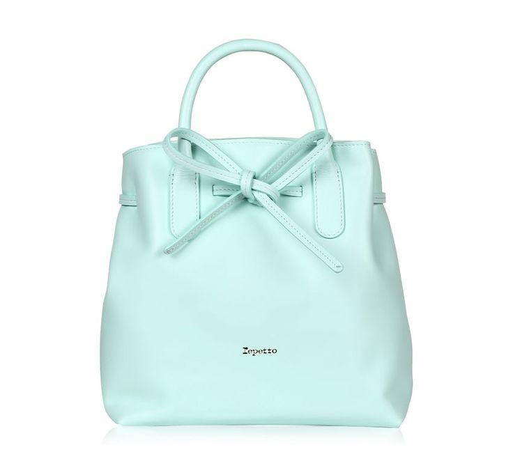 "Medium Shopping Bag ""Arabesque"". Adam blue Paris calfskin. #Repetto #RepettoBags #Blue #Pastel #RepettoArabesque"