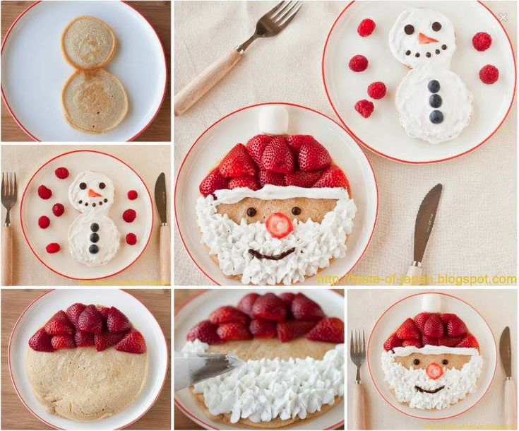 Santa and Snowman Pancakes