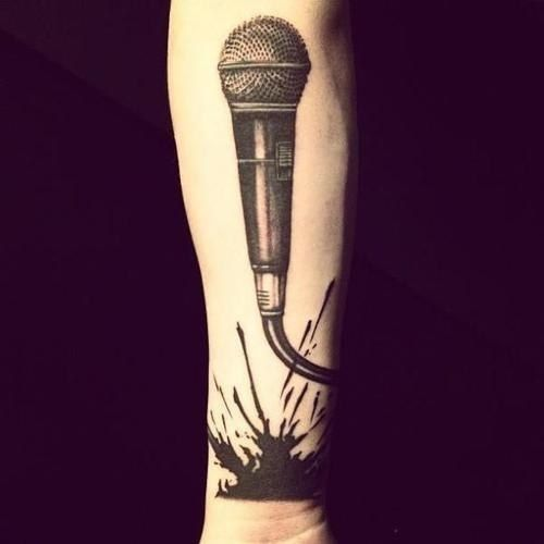 Just the microphone (small) without the splash would be so cute