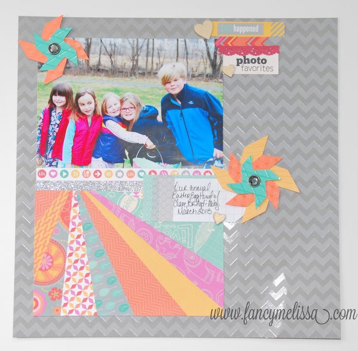 Layout By Melissa Laverty Using CTMH Dream Pop Paper