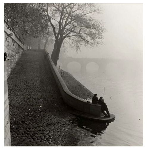 Seine in the mist  Paris circa 1955  Kees Scherer// #bw @blackwhitepins