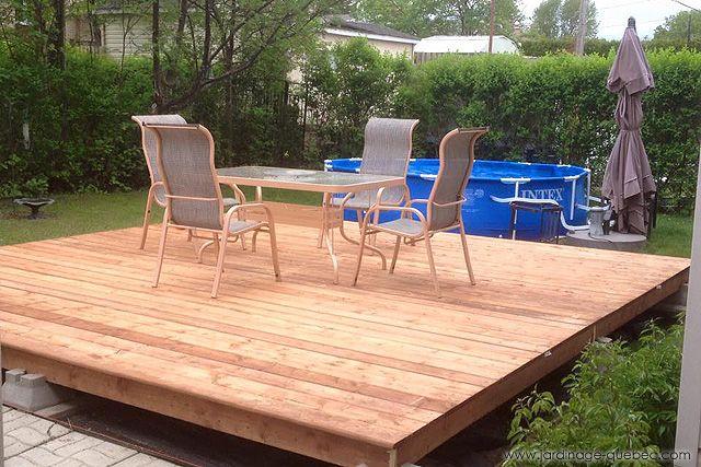 Garden Structure Ideas Ground Level Deck Plan In 2020 Floating Deck Diy Building A Deck Ground Level Deck