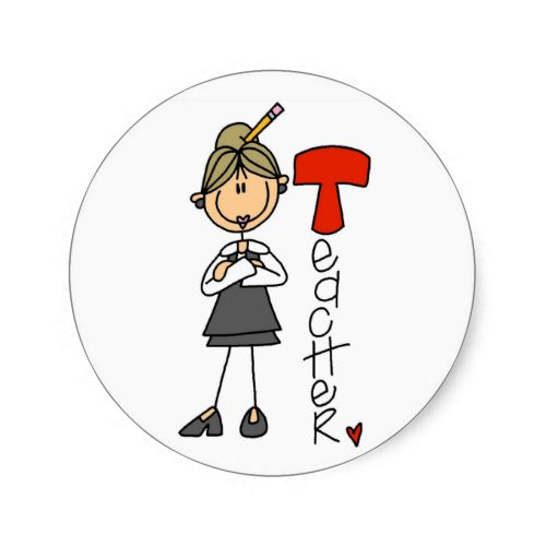 T is for Teacher Stickers