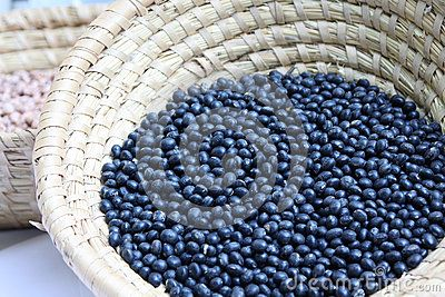 Black soy bean is blac variety of soy (Glycine max).