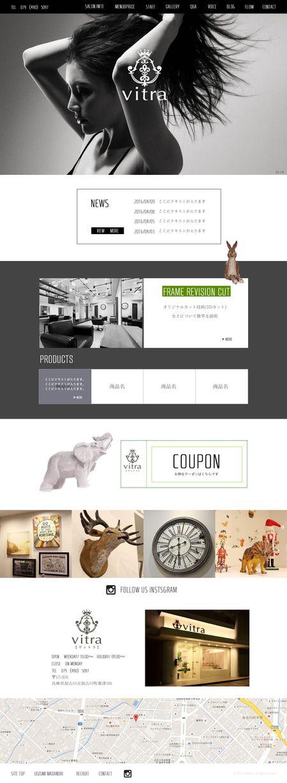 ren_urushiさんの提案 - ヘアサロンのホームページデザイン募集(TOP1ページのみ)※初心者の方も大歓迎です! | クラウドソーシング「ランサーズ」