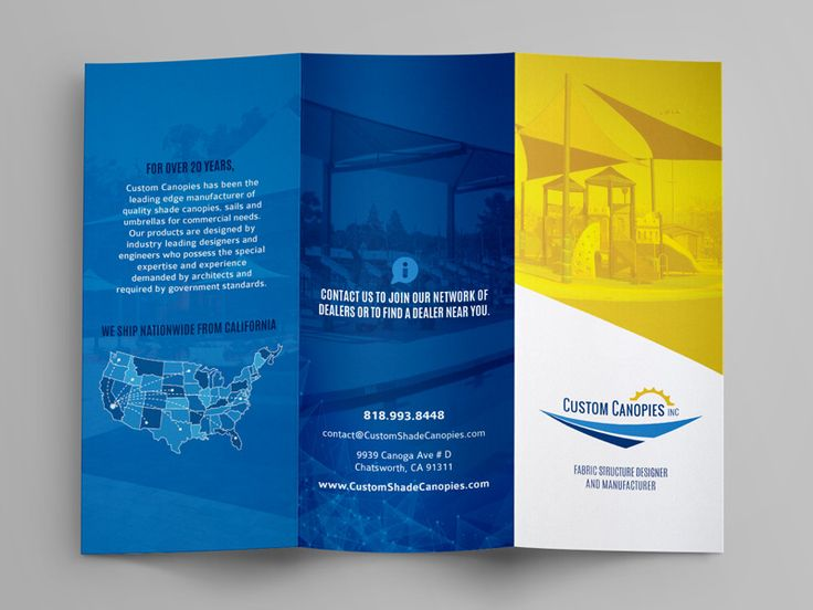 Shade Sail / Canopy Trifold Brochure by Catherine Vasquez