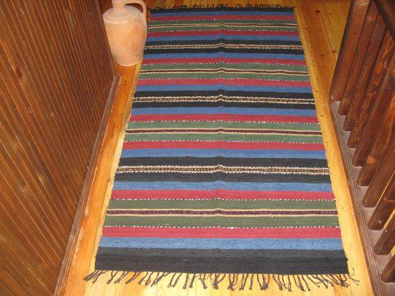 alfombra de trapo decorativa 97cm-196cm por Limbhad en Etsy