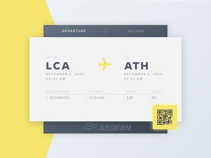 Daily UI - Day 24 - Boarding Pass http://ift.tt/1krqR75