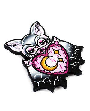 'Ghost Bat' Brooch - Creep Heart by Ella Mobbs