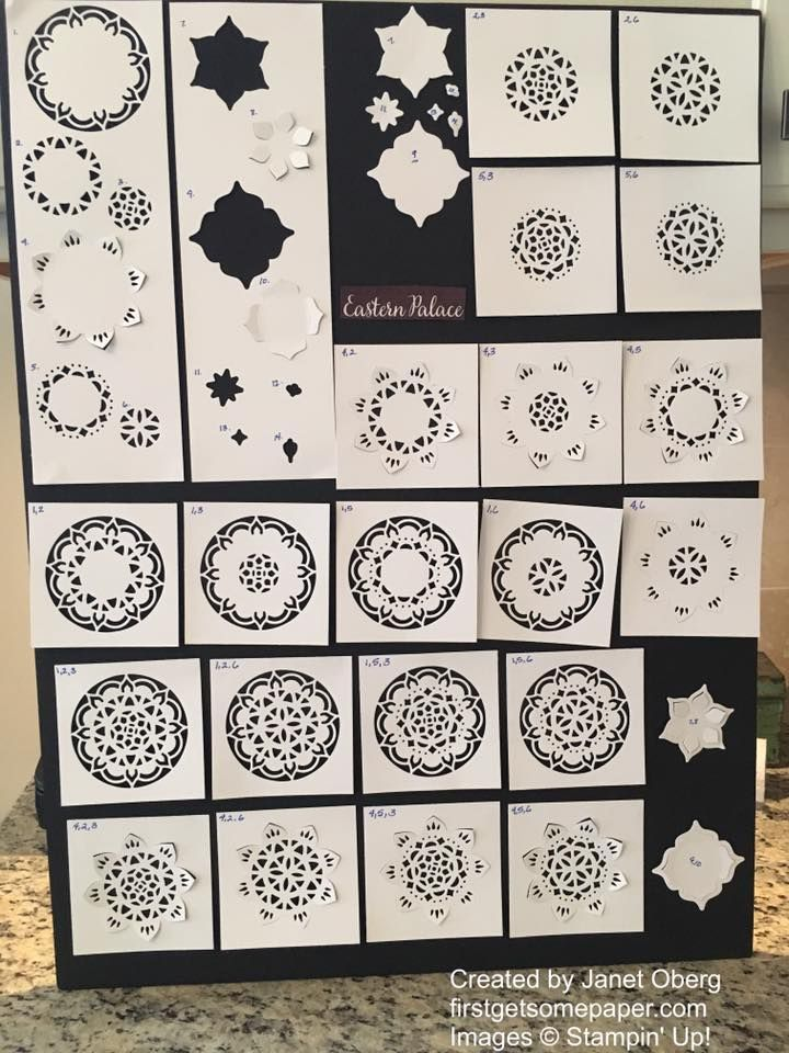 Lots of ways to create with the Eastern Medallions Thinlits Dies by Stampin' Up!