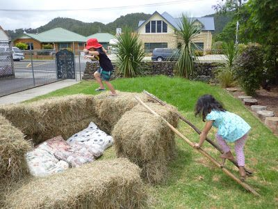 let the children play: Simple Play Space Transformations: A bale of Hay