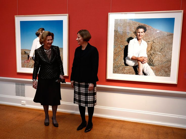 theroyalwatcher: Queen Sonja attended the opening of the exhibition of Mette Tronvoll's photos, some of which show the queen herself, at the National Gallery in Norway, March 18, 2014