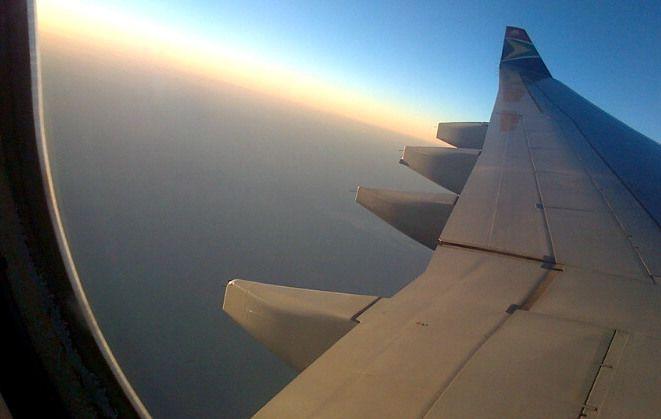 Sunset on an SAA flight on its way to India.