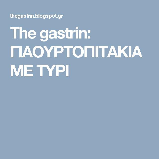 The gastrin: ΓΙΑΟΥΡΤΟΠΙΤΑΚΙΑ ΜΕ ΤΥΡΙ