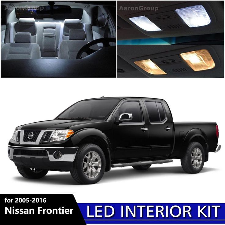5PCS White Interior LED Light Package Kit for 2005 - 2016 Nissan Frontier #AaronGroup