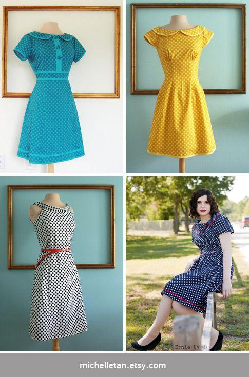 Michelle Tan - designed retro-inspired dresses