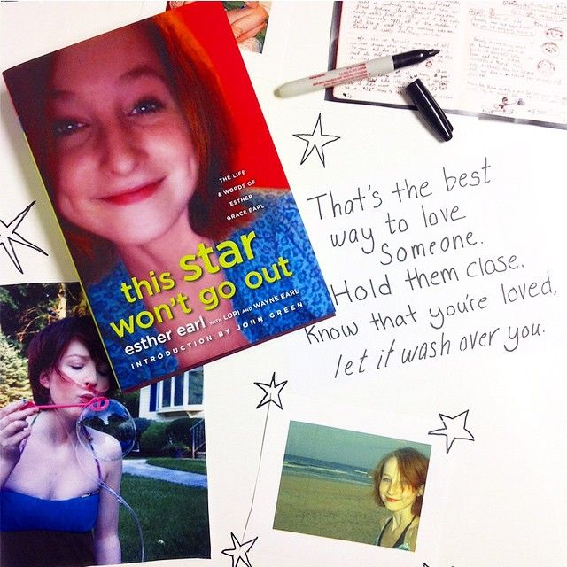 Today is #EstherDay, which means we're taking Esther Earls's message from #TSWGO and sharing the love. It's about taking the time to tell everyone you care about that they're in your heart: family, friends, anyone. Tag the people you want to know that they mean something to you, even if you don't tell them all the time. ❤️#tswgobook #thisstarwontgoout #johngreen #bookstagram #yalit #love