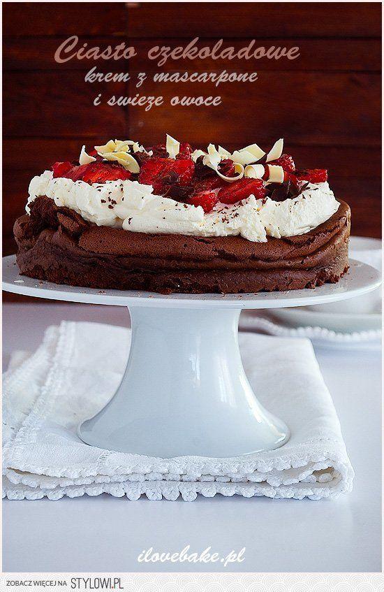 Ciasto czekoladowe z kremem na Stylowi.pl