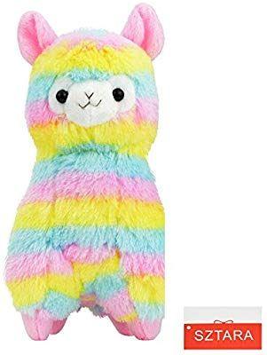 Sztara Christmas Rainbow Alpaca Plush Arpakasso Alpacasso Llama Soft