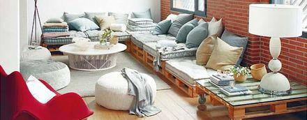 Du mobilier à base de palettes pour aménager un coin cosy