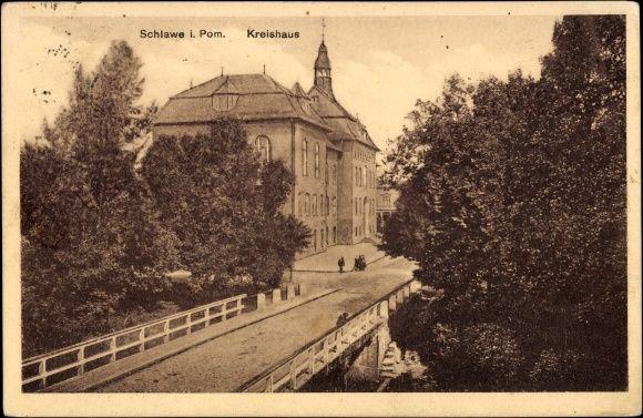 Sławno pocztówka z 1929 roku