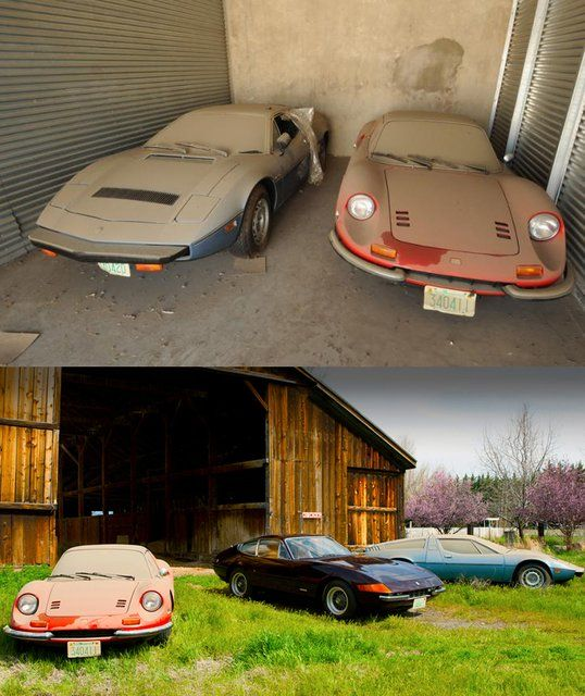 Italian Exotics Found In Dusty Texas Barn From Jalopnik