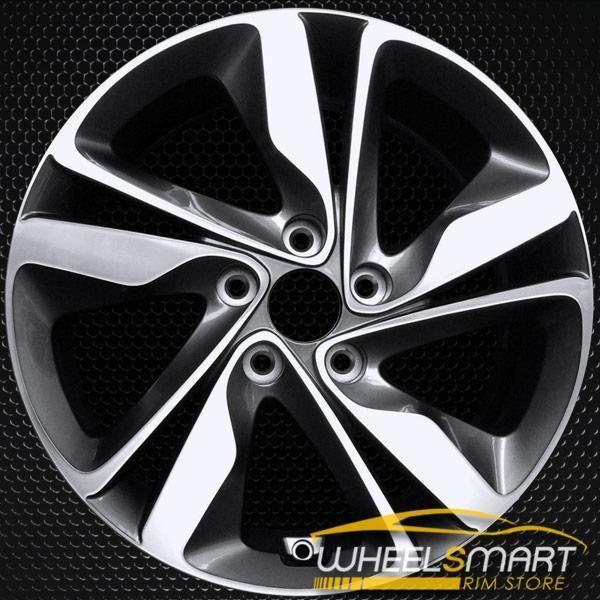 17 Hyundai Elantra Oem Wheel 2014 2016 Machined Alloy Stock Rim 70860 Wheelsmartrims Oemwheels Oemrims Elantra Hyundai Elantra Oem Wheels