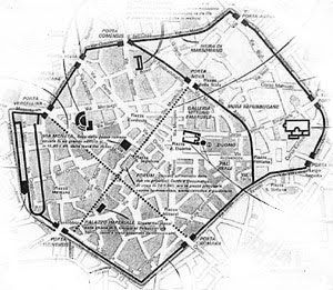 Resti delle mura romane a Milano