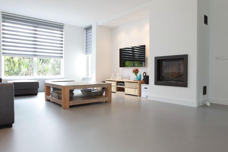 Een gietvloer is ideaal in combinatie met vloerverwarming.