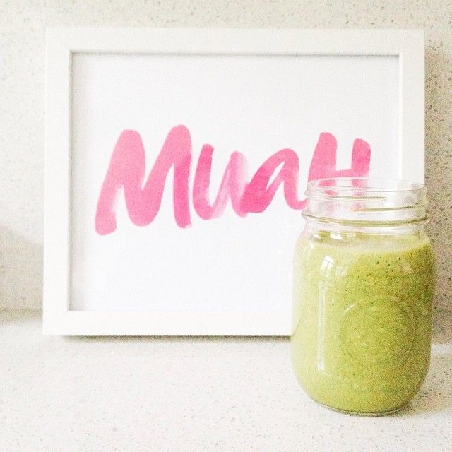 Today's #smoothie comes with some spinach love! Spinach, banana, pineapple, chia seeds, maca powder and chocolate protein powder. Blend it all with coconut water and ice. #vitamix #dailygreens  #healtyramadhan.  The #chiaseeds help amp up the protein and help keep you fuller longer. The #maca is high in calcium, potassium and iron. The coconut water will keep you hydrated throughout the day as well! Let me know what your favourite smoothie combo is!!!