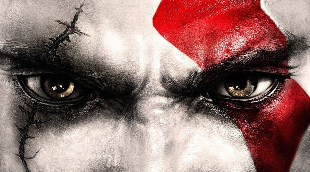 God Of War 2018 Video Game Kratos Eyes Wallpaper Hd Games 4k Wallpapers Images Photos And Background Wallpapers Den Kratos God Of War Kratos Face Kratos God Of War Wallpapers