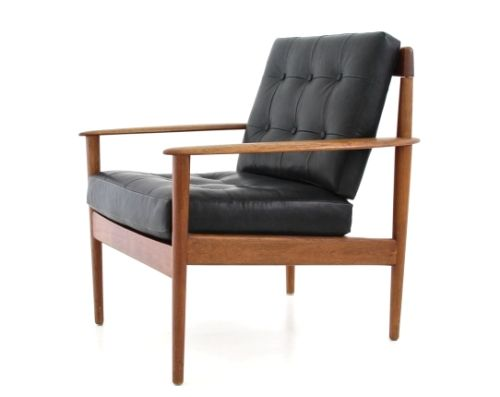 Replica Grete Jalk Model 56 Easy Chair Leather Sokol