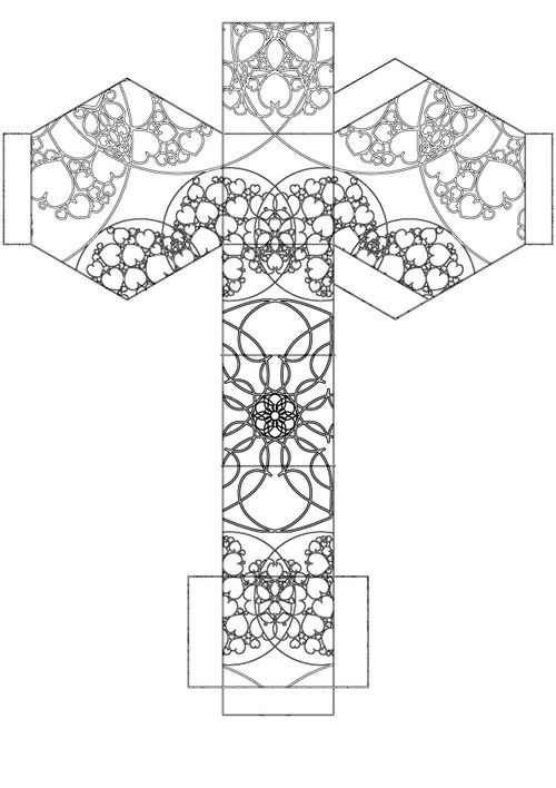 FREE Colouring for Grown ups! Hexagon jewel box. Adult colouring for free!