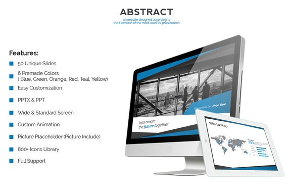 Abstract - Powerpoint Theme Template by SlideMore on Creative Market